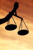 Κλίμακες της δικαιοσύνης Στοκ φωτογραφία με δικαίωμα ελεύθερης χρήσης
