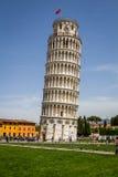 Κλίνοντας πύργος της Πίζας, Ιταλία Στοκ εικόνες με δικαίωμα ελεύθερης χρήσης