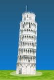 Κλίνοντας πύργος της Πίζας απεικόνιση αποθεμάτων