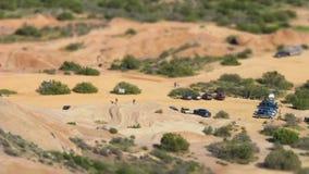 Κλίση-μετατόπιση της περιοχής πάρκων πεζοπορίας ερήμων απόθεμα βίντεο