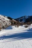 Κλίση σκι στο Καζακστάν Στοκ Εικόνες