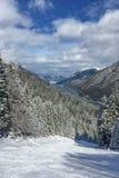 κλίση σκι της Αυστρίας Στοκ Εικόνες
