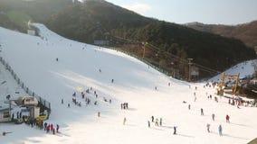 Κλίση σκι της Κορέας απόθεμα βίντεο