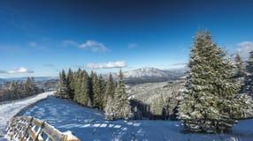 Κλίση σκι Clabucet στοκ εικόνες