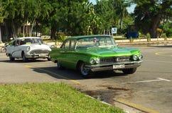 Κλασικά αυτοκίνητα στην Αβάνα, Κούβα Στοκ Φωτογραφία