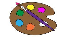 Κλασικά εργαλεία χρωμάτων Στοκ Εικόνα