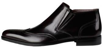 Κλασικά παπούτσια μαύρων Στοκ Φωτογραφία