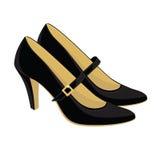 Κλασικά παπούτσια με το λουρί Στοκ Εικόνες