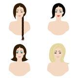 Κλασικά hairstyles Στοκ Εικόνες