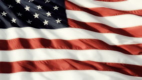 Κλασική αμερικανική σημαία ομαλή απόθεμα βίντεο