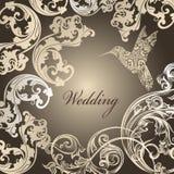 Κλασική γαμήλια κάρτα Στοκ φωτογραφία με δικαίωμα ελεύθερης χρήσης
