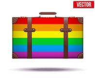 Κλασική εκλεκτής ποιότητας βαλίτσα αποσκευών για το ταξίδι μέσα Στοκ φωτογραφία με δικαίωμα ελεύθερης χρήσης