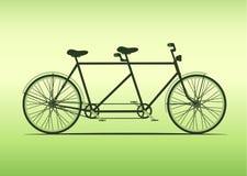 Κλασική διαδοχική απεικόνιση ποδηλάτων γύρος μαζί σε διαδοχικό, διάνυσμα Στοκ φωτογραφία με δικαίωμα ελεύθερης χρήσης