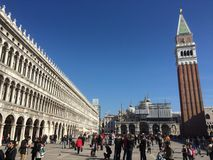 Κλασική ρωμαϊκή αρχιτεκτονική στη Βενετία Στοκ Εικόνες