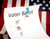 Κλασική ψήφος ψηφοφόρων με λίγο άτομο Στοκ εικόνες με δικαίωμα ελεύθερης χρήσης