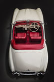 Κλασική Benz της Mercedes αυτοκινήτων 190sl-ανώτατη άποψη Στοκ φωτογραφία με δικαίωμα ελεύθερης χρήσης