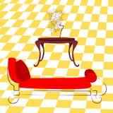 Κλασικοί καναπές και βάζο Στοκ φωτογραφία με δικαίωμα ελεύθερης χρήσης