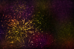 Κλασικός εκλεκτής ποιότητας αφηρημένος ζωηρόχρωμος ακτινοβολεί λουλούδι ή πυροτέχνημα SP Στοκ Φωτογραφίες