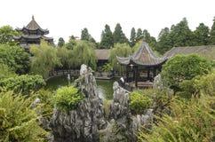 Κλασικός κινεζικός πράσινος κήπος, Νότια Κίνα Στοκ εικόνα με δικαίωμα ελεύθερης χρήσης