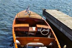 κλασικός ξύλινος βαρκών Στοκ Εικόνα
