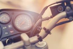 Κλασικός πίνακας ελέγχου μοτοσικλετών στοκ φωτογραφίες με δικαίωμα ελεύθερης χρήσης