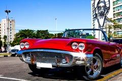 Κλασικό αυτοκίνητο Plaza de Λα Revolucion, Αβάνα, Κούβα, στην πλάτη Στοκ φωτογραφίες με δικαίωμα ελεύθερης χρήσης