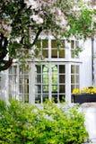 Κλασικό βρετανικό παλαιό παράθυρο. στοκ εικόνα