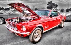 Κλασικό κόκκινο μάστανγκ της Ford Στοκ φωτογραφία με δικαίωμα ελεύθερης χρήσης