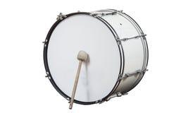 Κλασικό μουσικό μεγάλο τύμπανο οργάνων που απομονώνεται στο άσπρο υπόβαθρο Στοκ εικόνα με δικαίωμα ελεύθερης χρήσης
