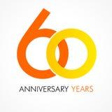 60 κλασικό λογότυπο χρονών εορτασμού ελεύθερη απεικόνιση δικαιώματος