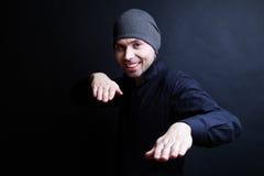Κλασικό πορτρέτο ενός συμπαθητικού νεαρού άνδρα Στοκ φωτογραφίες με δικαίωμα ελεύθερης χρήσης