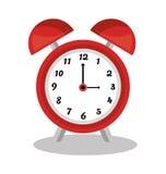 Κλασικό ρολόι με το συναγερμό απεικόνιση αποθεμάτων