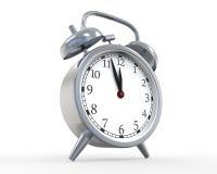 Κλασικό ρολόι συναγερμών που απομονώνεται στο άσπρο υπόβαθρο Στοκ φωτογραφία με δικαίωμα ελεύθερης χρήσης