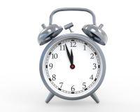 Κλασικό ρολόι συναγερμών που απομονώνεται στο άσπρο υπόβαθρο Στοκ Φωτογραφίες