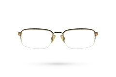 Κλασικό eyeglasses ύφος στο άσπρο υπόβαθρο Στοκ εικόνες με δικαίωμα ελεύθερης χρήσης