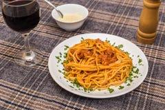 Κλασικό spagetti bolognese Στοκ Φωτογραφία