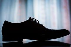Κλασσικά καφετιά παπούτσια ατόμων ` s Στοκ Φωτογραφίες