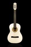 Κλασσική άσπρη ακουστική κιθάρα Στοκ Εικόνες