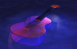 Κλασσική κιθάρα γυαλιού Στοκ Φωτογραφία