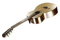 Κλασσική κιθάρα σε ένα άσπρο υπόβαθρο Στοκ Φωτογραφία