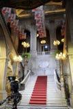 Κλασσική μαρμάρινη σκάλα του Δημαρχείου Στοκ Φωτογραφίες
