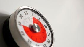 Κλασσικός εκλεκτής ποιότητας στενός επάνω χρονομέτρων αντίστροφης μέτρησης κουζινών, παραμονή 45 λεπτών Στοκ Εικόνες