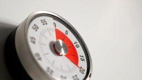 Κλασσικός εκλεκτής ποιότητας στενός επάνω χρονομέτρων αντίστροφης μέτρησης κουζινών, παραμονή 20 λεπτών Στοκ Φωτογραφίες