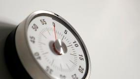 Κλασσικός εκλεκτής ποιότητας στενός επάνω χρονομέτρων αντίστροφης μέτρησης κουζινών, παραμονή 0 λεπτών Στοκ Εικόνες