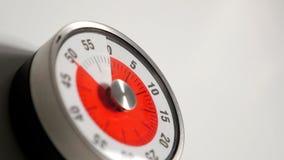 Κλασσικός εκλεκτής ποιότητας στενός επάνω χρονομέτρων αντίστροφης μέτρησης κουζινών, παραμονή 50 λεπτών Στοκ Εικόνες