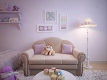 Κλασσικός καναπές ύφους παιδιών Στοκ φωτογραφία με δικαίωμα ελεύθερης χρήσης