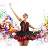Κλασσικός χορευτής χρωμάτων Στοκ εικόνες με δικαίωμα ελεύθερης χρήσης