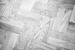 Κλασσικό άσπρο σχέδιο παρκέ, ξύλινη επικεράμωση στοκ εικόνα