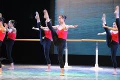 Κλασσικό εκπαιδευτικό μάθημα χορού μπαλέτου βασικό ικανότητα-βασικό Στοκ Φωτογραφία