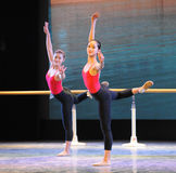 Κλασσικό εκπαιδευτικό μάθημα χορού μπαλέτου βασικό ικανότητα-βασικό Στοκ φωτογραφία με δικαίωμα ελεύθερης χρήσης